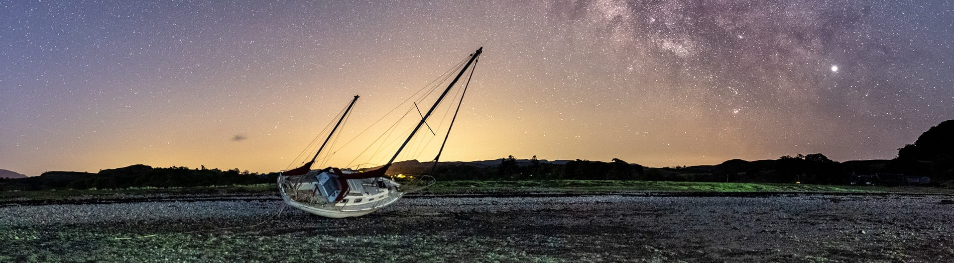 Starry skies at Loch Melfort Hotel