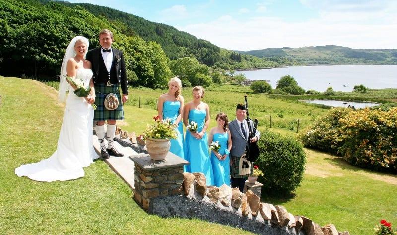 intimate wedding in Scotland