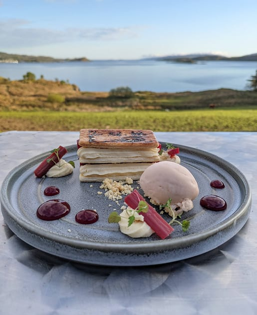 Desserts at Loch Melfort Hotel