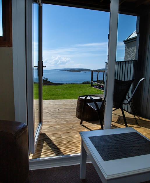 Lodge Rooms with Decking at Loch Melfort Hotel