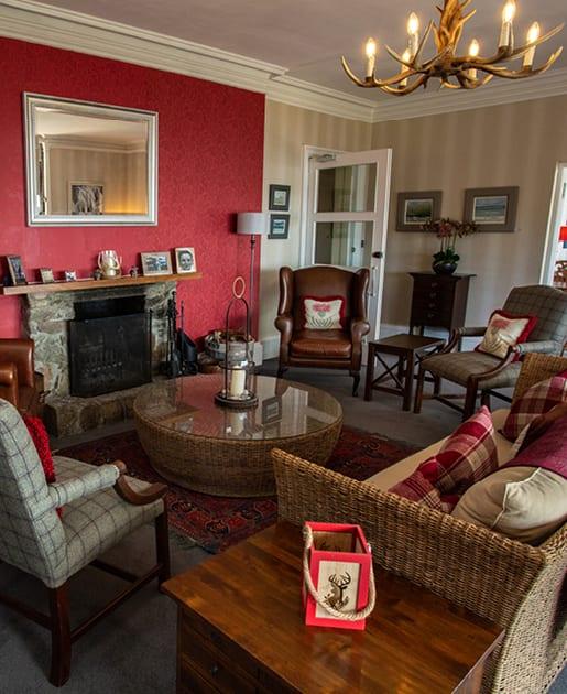 Lounge at Loch Melfort Hotel