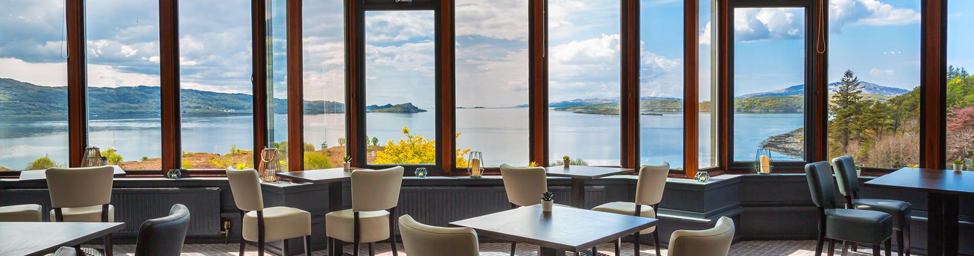 Restaurant at Loch Melfort Hotel