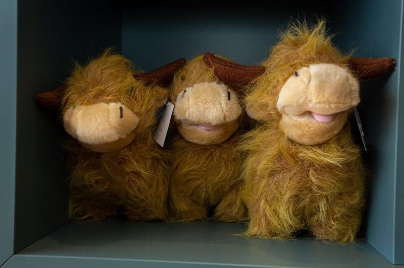 Scottish highland stuffed animals cow