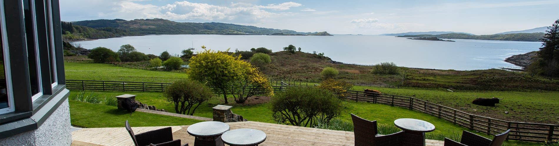 View from Loch Melfort Hotel