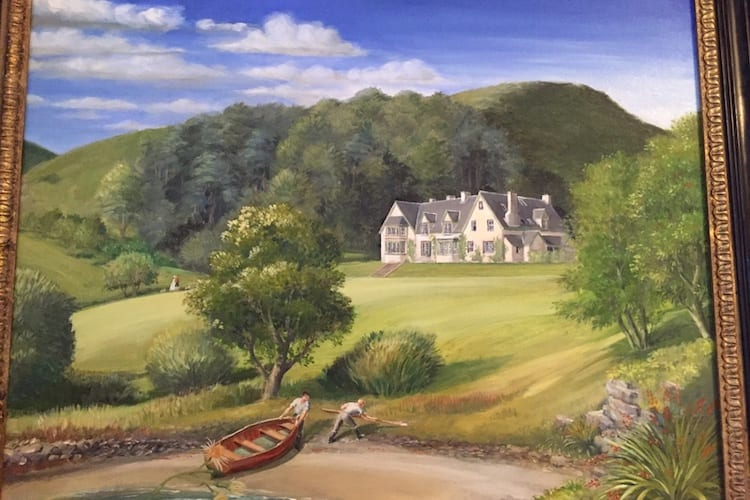 loch melfort hotel oban arduaine house painting