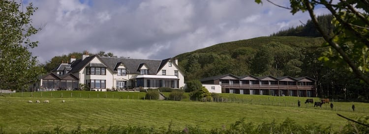 loch melfort hotel oban front view lawn rooms page