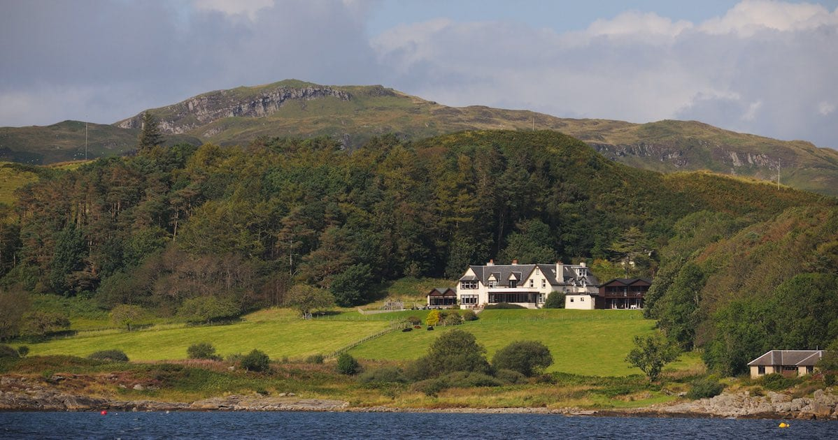 loch melfort hotel oban view from sea spring saver