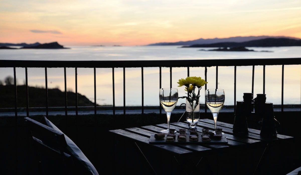 loch melfort hotel romantic february balcony view