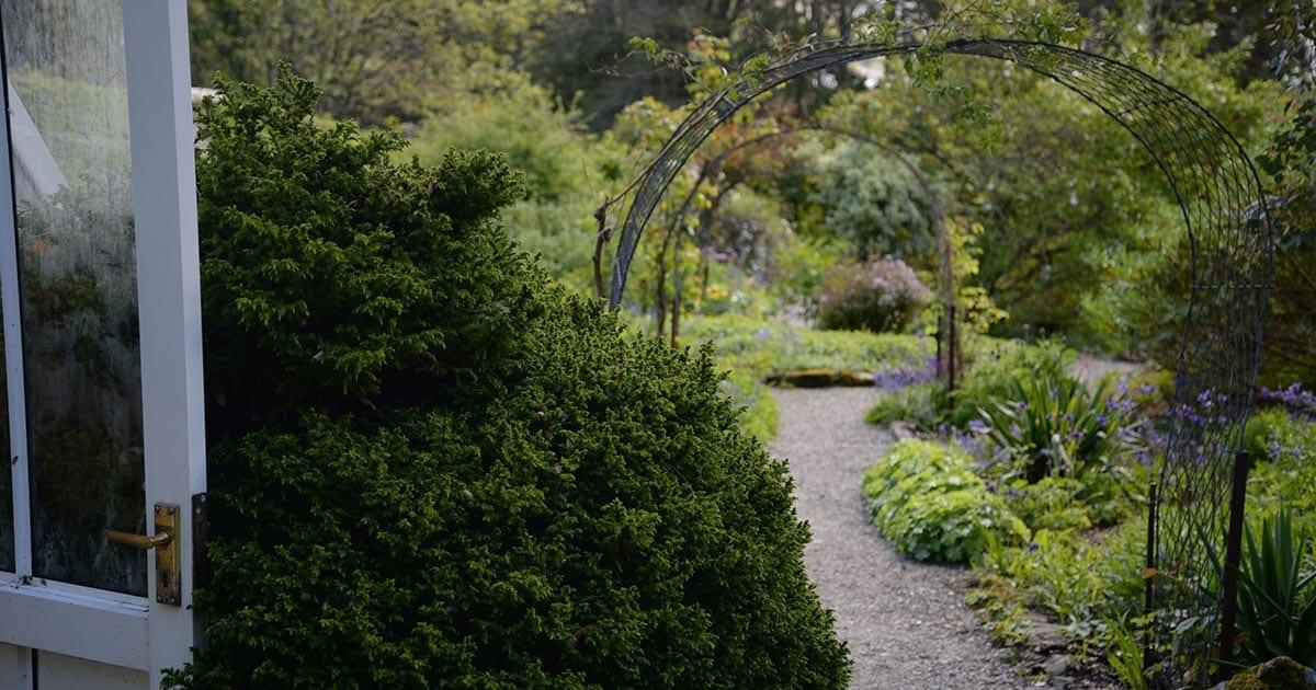 loch melfort oban hotel arduaine garden pathway arches