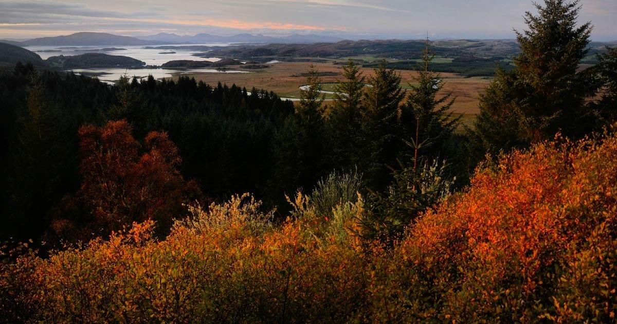 Autumn at Loch Melfort Hotel near Oban