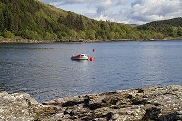 Loch Melfort Oban Hotel, Boat