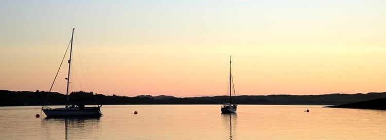 Loch Melfot Oban Hotel, Sunset boats